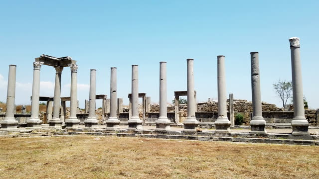 The ruins of Perge Ancient City video