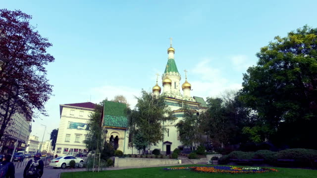 The Russian Church of St. Nicholas in Sofia, capital of Bulgaria video