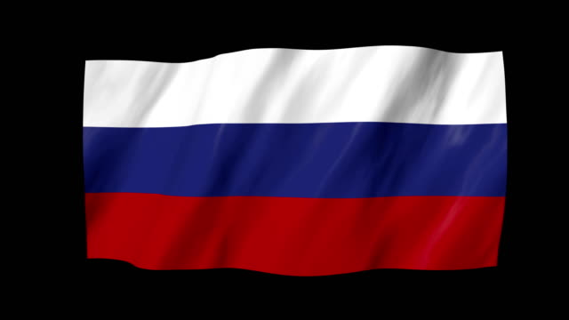 The Russian flag in 3d, waving in the wind, on black background. The Russian flag in 3d, waving in the wind, on black background. russian culture stock videos & royalty-free footage