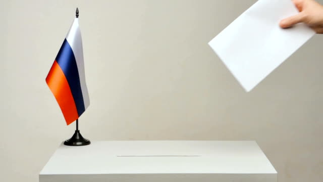 the Russian tricolor flag video
