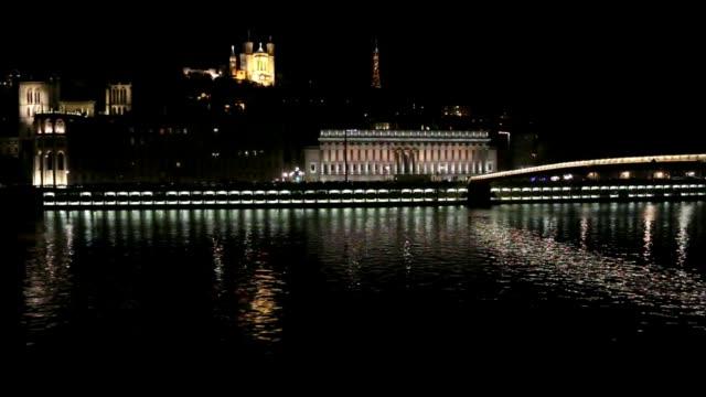 The Saône at night