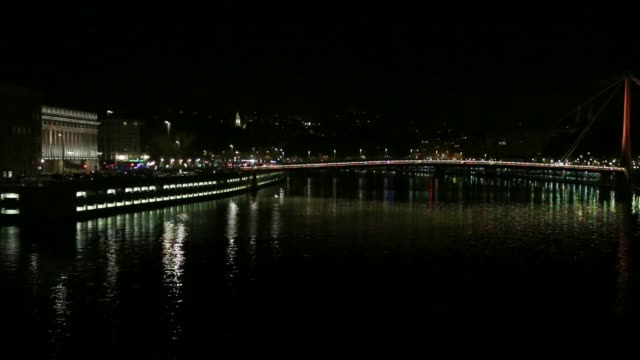 The Saône by night