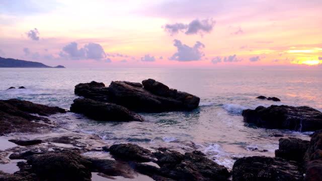 the sea, the sun, the secret of the sky - sky diving video stock e b–roll
