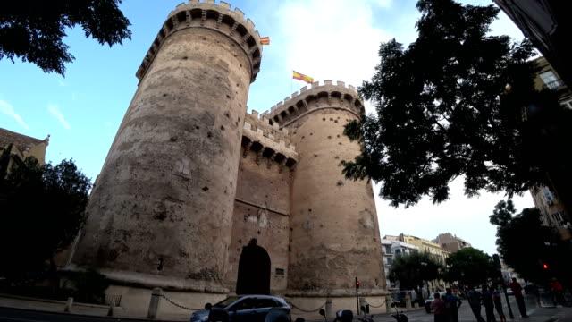 The Serranos Towers in Valencia Torres de Quart Quarte in Valencia towers Spain 04 August 2017 sorpresa stock videos & royalty-free footage