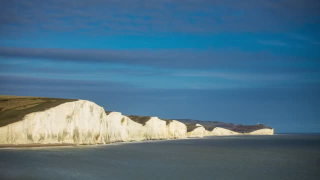 the seven sisters and beachy head - time lapse - south downs video stock e b–roll