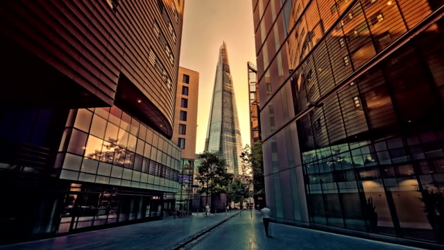 the shard at london bridge - contemporary architecture stock videos & royalty-free footage