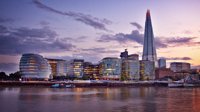 the shard. business district. london. landmark - london architecture stock videos & royalty-free footage