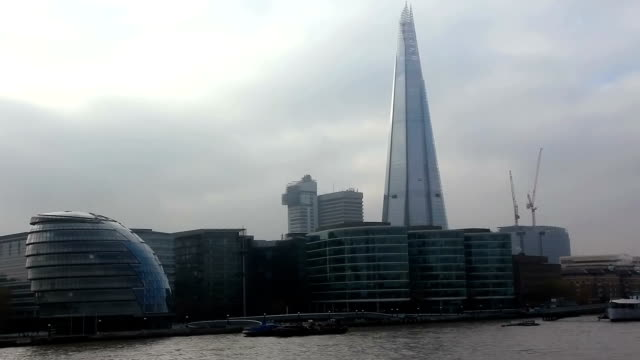 The Shard Tower and London City Hall, England video
