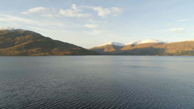 the shores of a typical scottish loch - fort william video stock e b–roll