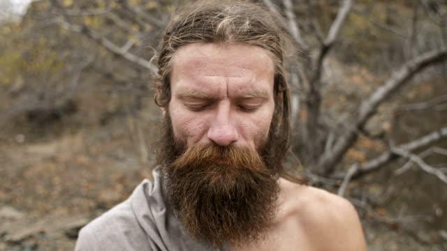 The sight of a meditating yoga ascetic
