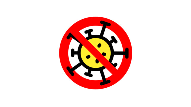 The sign of stopping coronavirus The sign of stopping coronavirus,  always rotate around the center. covid icon stock videos & royalty-free footage