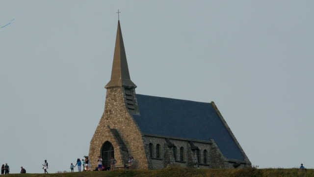 The small chapel from the small town og Etretat video