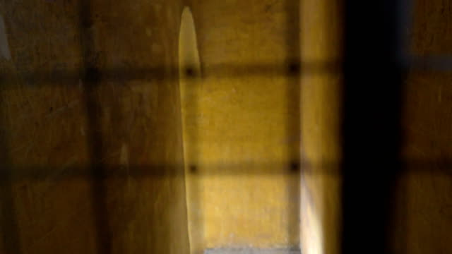 The small window on the church in Palermo Sicily Italy