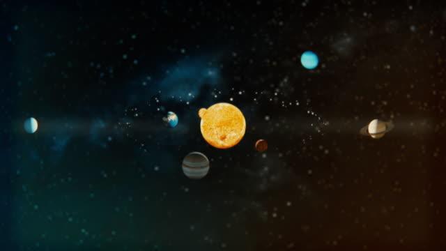 the solar system - układ słoneczny filmów i materiałów b-roll