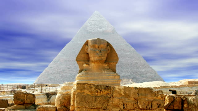 The Sphinx over sky video