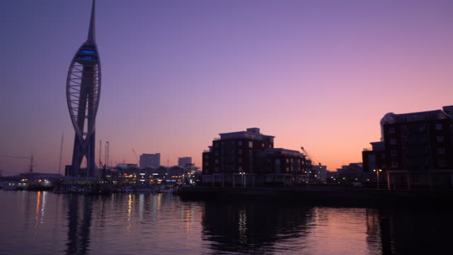 The Spinnaker Tower in Portsmouth at the break of dawn