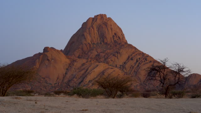 The Spitzkoppe National Park in Namibia in Africa.