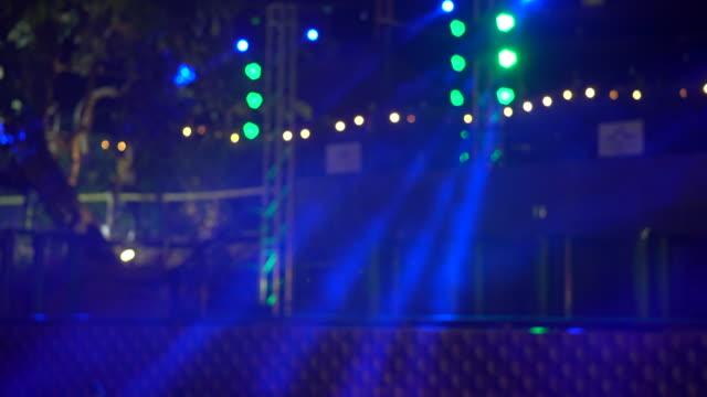 The spotlight through the smoke on stage. video