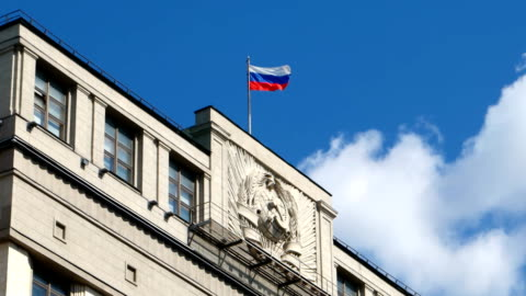 vídeos de stock e filmes b-roll de a duma estatal da federação da rússia, situado em moscovo - capitais internacionais