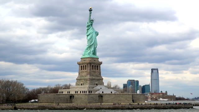 HD : The Statue of Liberty in New York City video