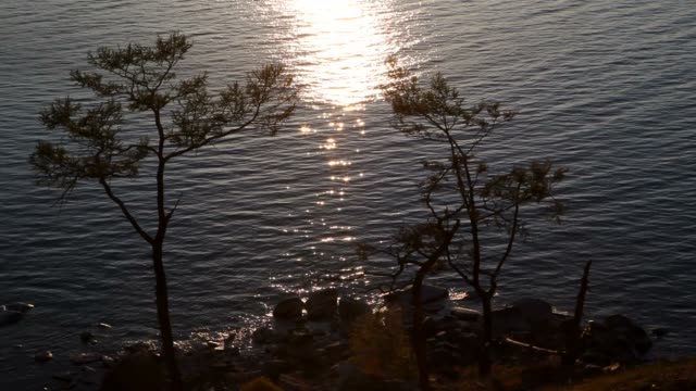 The sunset on the water video