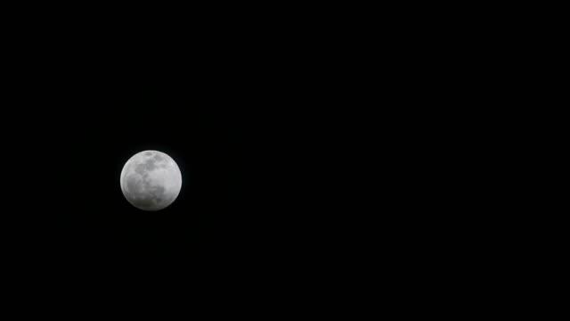 den super blod wolf moon på det nya året - earth from space bildbanksvideor och videomaterial från bakom kulisserna