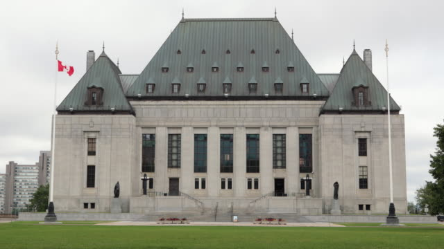 The Supreme Court of Canada, Ottawa, Canada The Supreme court of Canada in west of Parliament Hill in Ottawa Canada supreme court stock videos & royalty-free footage