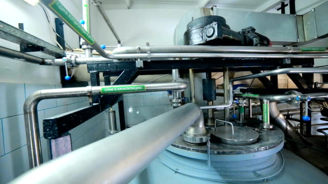 The System Pipe, pipelines with valves at modern plant, factory indoor video