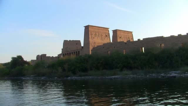 The Temple of Philae on Agilika Island in Aswan, Egypt