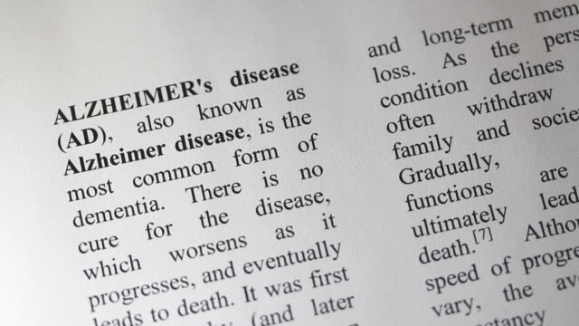 The term Alzheimer being emphasized with a yellow marker video