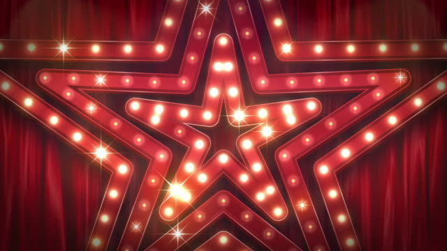 The theater sign.Stars shape.[loop]