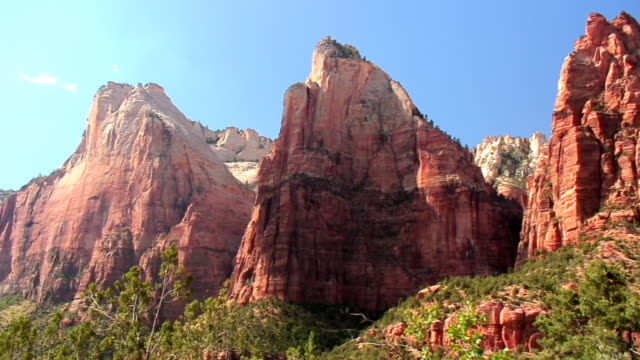 The Three Patriarchs The Three Patriarchs in Zion Nationa Park old testament stock videos & royalty-free footage