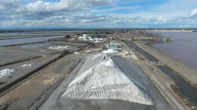 The top of the pyramid of salt. Aerial view