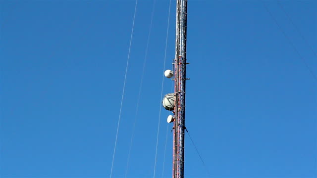 The top part of the mobile tower video