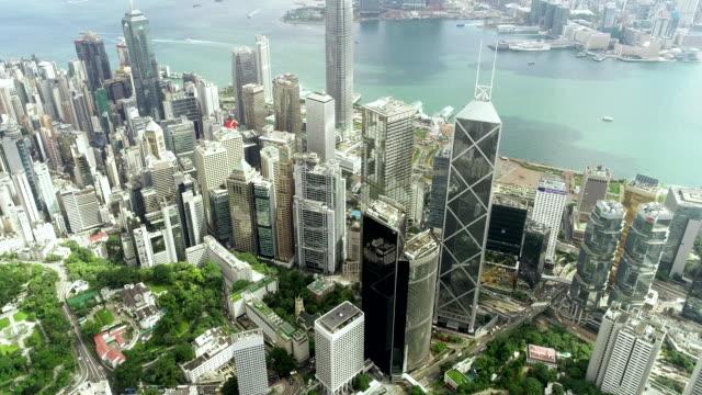 グリーン香港市のビルタワーの一番の眺め - 緑 ビル点の映像素材/bロール