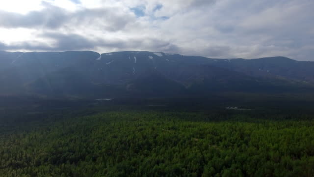 The tops of the Mountains, Khibiny and cloudy sky. video