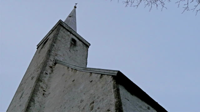 The tower of the small white church video