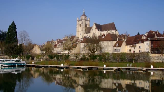 the town Dole and church in France video