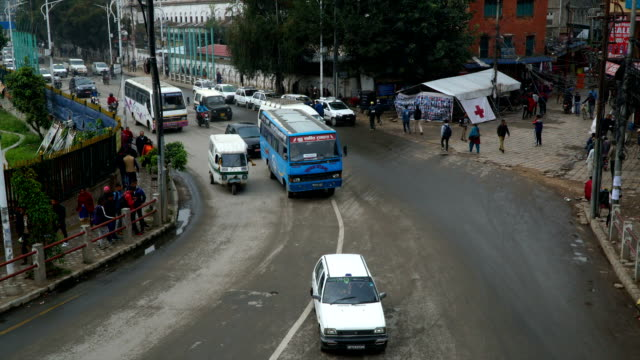 The traffic on the streets in Kathmandu video