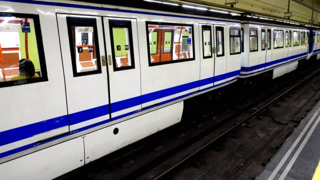 The train in the subway of Madrid.