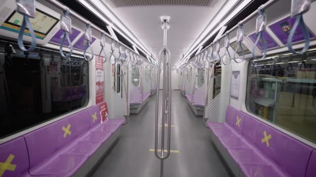 vidéos et rushes de le train est vide - wagon