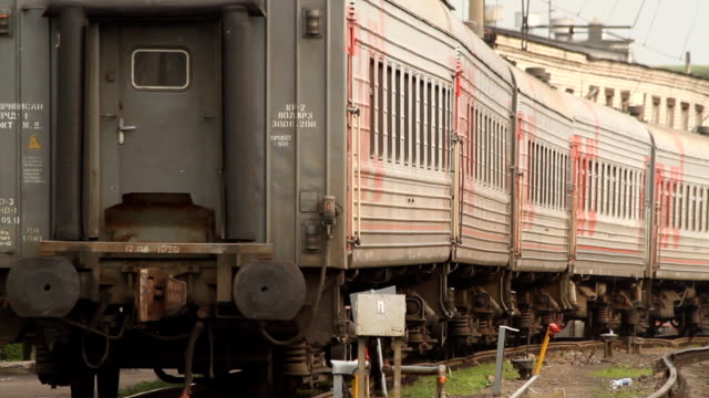 The train leaving the station / Russia. Moscow video