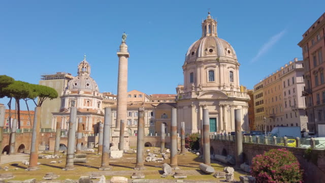 The Trajan's Forum in Rome, Italy