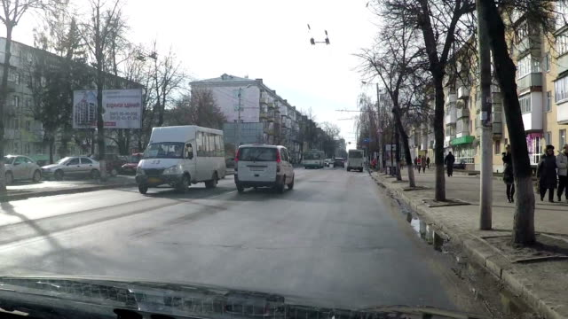 The transport stream on streets of Ukrainian city. video