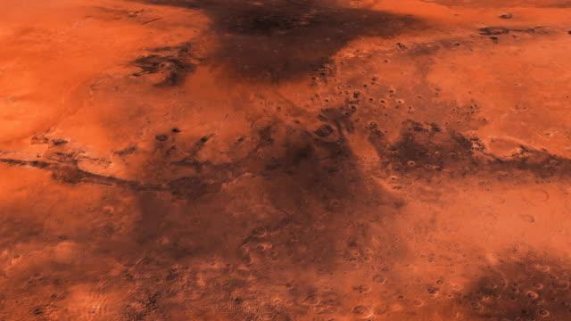 resan av kameran på ytan av mars i hög kvalitet. på vackra avkopplande background. space - mars bildbanksvideor och videomaterial från bakom kulisserna