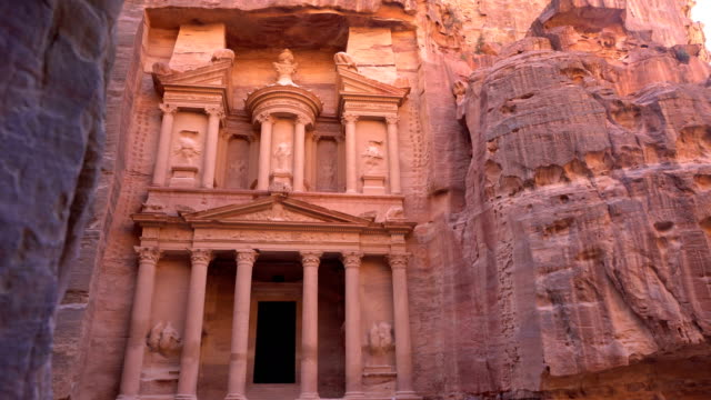 The Treasury of Petra ancient city, Jordan The Treasury of Petra ancient city, Jordan treasury stock videos & royalty-free footage