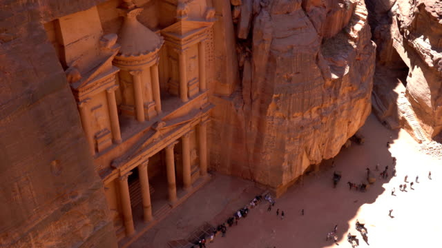 The Treasury of Petra city, Jordan The Treasury of Petra ancient city, Jordan treasury stock videos & royalty-free footage