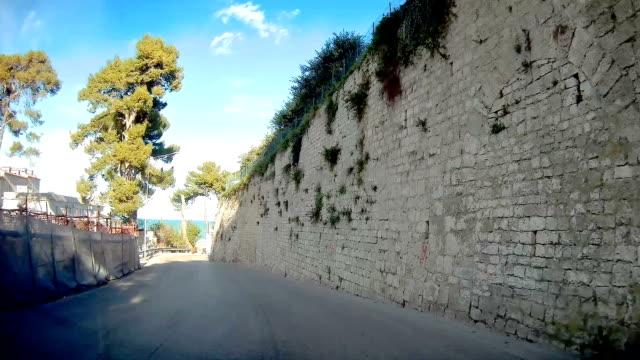 träd vid vägkanten när du reser i rodi italien - fur bildbanksvideor och videomaterial från bakom kulisserna