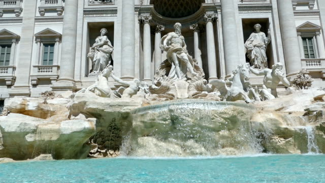 the trevi fountain in rome, italy - italian architecture stock videos & royalty-free footage