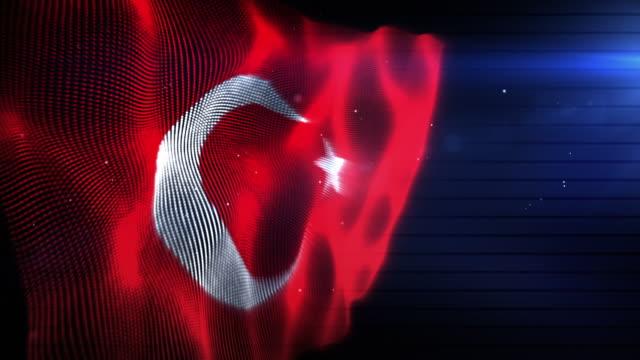 The Turkish Flag - Background Loop (Full HD) video